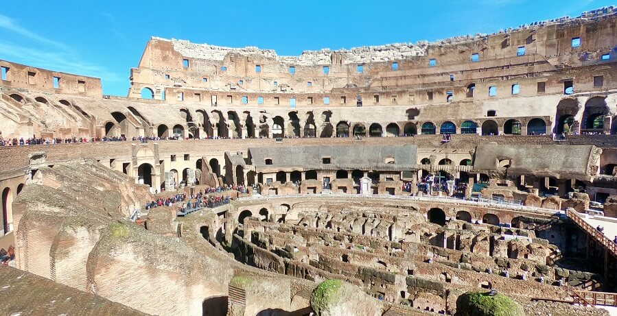 Rome Day Tours inside Colosseum II