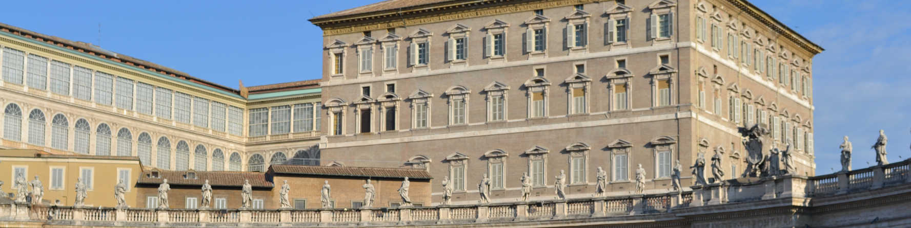 Who lives in the Vatican Palace?