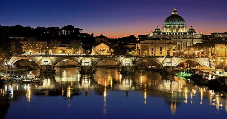 vatican city night view